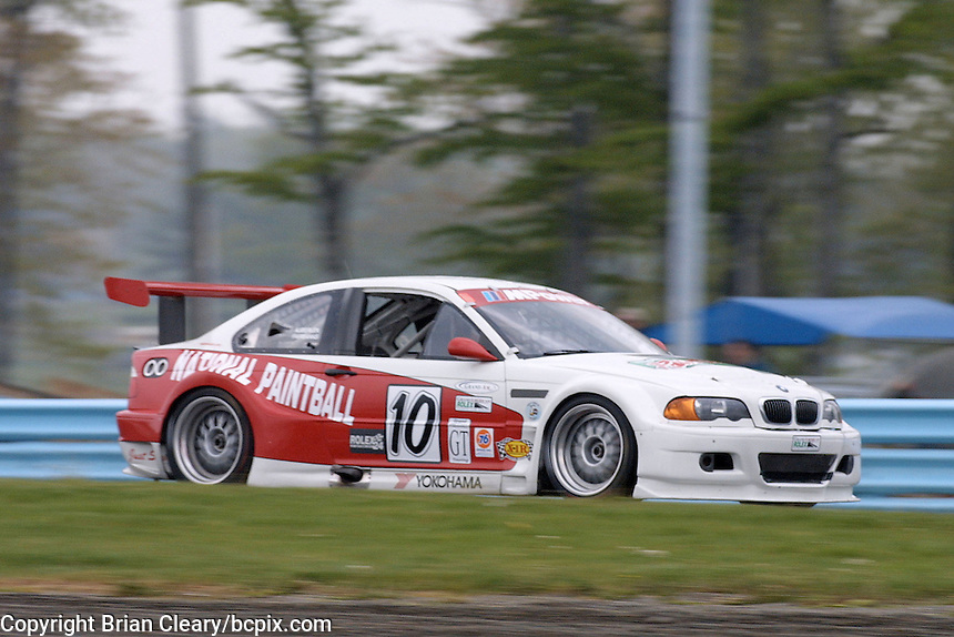 The #10 BMW of  Chuck Goldsborough, Stu Hayner, Rick Fairbanks and Cass Whitehead in action,  6 Hours of the Glen Grand-Am Rolex Series race, Watkins Glen International Raceway, Watkins Glen NY, May 19, 2001. (Photo by Brian Cleary/www.bcpix.com)