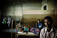 Malaria patients at a clinic in Orissa, which is the Indian state most affected by malaria, with 25 to 30 percent of all malaria cases diagnosed in the country.