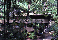 F.L. Wright: Fallingwater. Seen from path.  Photo '76.