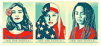 Resist - Protest Posters for social and political advocacy actions.<br /> <br /> Set of 3 together, overall print size 44 wide x 20 tall.
