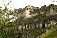 North Acropolis at the Maya ruins of Tikal, El Peten, Guatemala. Tikal is a UNESCO World Heritage Site...