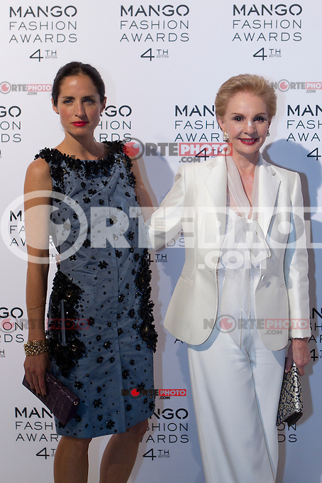 Carolina Herrera and daughter attend the Mango Fashion Awards,  Barcelona Spain, May 30, 2012.