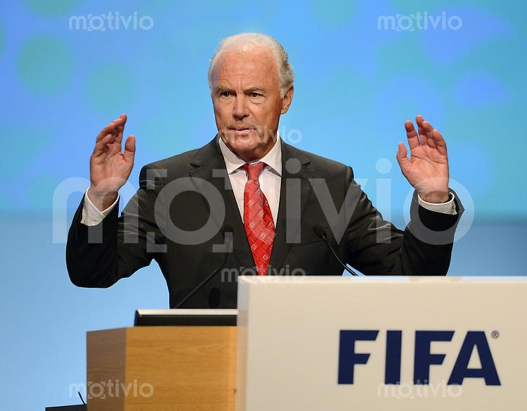 Fussball International  62. FIFA  Kongress in Budapest 2012    25.05.2012 Franz BECKENBAUER (Deutschland, Vorsitzender der FIFA Task Force Fussball 2014)