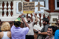 06.09.2016 - Protest at Jamaican H.C. Against Deportation Flight