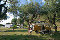 Messina, Sicily, Italy, May 2007. Camping Il Peloritano is an oasis of rest in an olivegrove. Once a week the owners Carlo and Patrizia organize a spaghetti evening during which one can taste all the local flavours. The rugged nature of sicily harbours beautiful villages and ruins of ancient civilizations. Photo by Frits Meyst/Adventure4ever.com