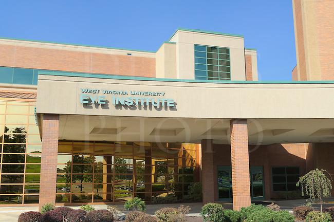 West Virginia University Eye Institute building entrance, Morgantown, West Virginia, WV, USA.