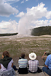 WY: Wyoming, Yellowstone National Park:.At Old Faithful geyser..Photo #: yellow1129..Photo copyright Lee Foster, 510/549-2202, lee@fostertravel.com, www.fostertravel.com..