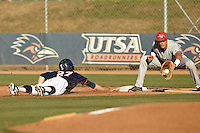 SAN ANTONIO, TX - APRIL 29, 2014: The Lamar University Cardinals versus the University of Texas at San Antonio Roadrunners Baseball at Roadrunner Field. (Photo by Jeff Huehn)