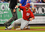5 March 2012: Washington Nationals outfielder Bryce Harper slides safely into third during a Spring Training game against the New York Mets at Digital Domain Park in Port St. Lucie, Florida. The Nationals defeated the Mets 3-1 in Grapefruit League play. Mandatory Credit: Ed Wolfstein Photo