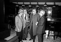 Roma 1986.Giorgio Napolitano (Partito Comunista Italiano),  Vittorio Foa , Luigi Pintor.