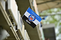 A general view of a Bath Rugby flag. Aviva Premiership match, between Bath Rugby and Gloucester Rugby on April 30, 2017 at the Recreation Ground in Bath, England. Photo by: Patrick Khachfe / Onside Images