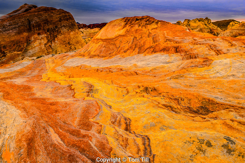 Crazy Hill, Colorful sandstone hill in Valley of Fire State Park, Nevada