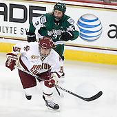 Alex Carpenter (BC - 5), Ali Winkel (Dartmouth - 3) - The Boston College Eagles defeated the Dartmouth College Big Green 4-3 on Sunday, October 23, 2011, at Kelley Rink in Conte Forum in Chestnut Hill, Massachusetts.