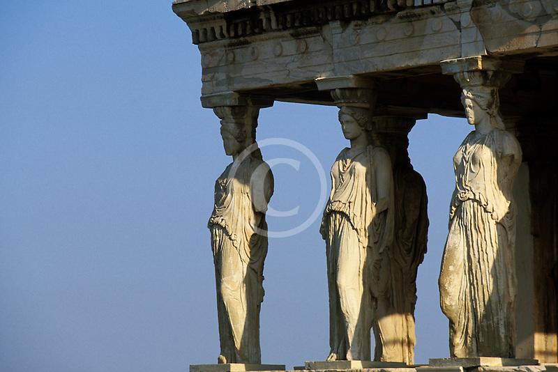 Greece, Athens, Acropolis, Caryatids