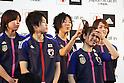 (L to R) Saki Kumagai (JPN), .Atsuto Uchida (JPN), Yuki Nagasato (JPN), .Aya Sameshima (JPN), Rumi Utsugi (JPN), DECEMBER 26, 2011 - Football / Soccer : Japan National Team Official Uniform Announcement Press conference .at Saitama Super Arena, Saitama, Japan. (Photo by YUTAKA/AFLO SPORT) [1040]