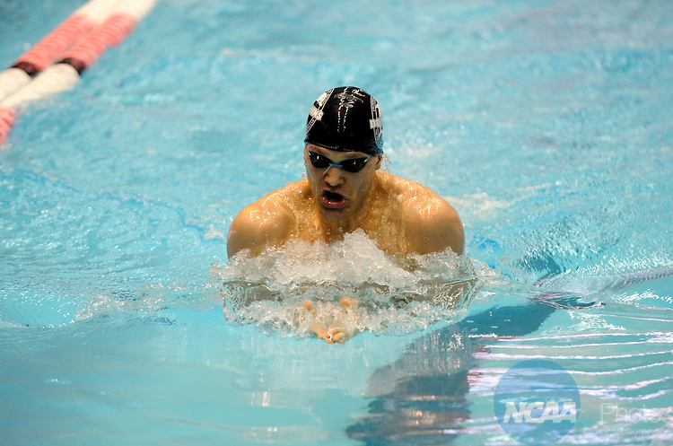 25 MAR 2011:  Pavel Buyanov of Staten Island competes in the 100 breaststroke during the Division III Men's and Women's Swimming and Diving Championship help at Allan Jones Aquatic Center in Knoxville, TN.  Buyanov finished third. David Weinhold/NCAA Photos