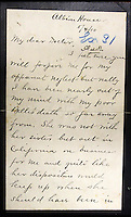 BNPS.co.uk (01202 558833)<br /> Pic: HAldridge/BNPS<br /> <br /> A 105-year-old archive of messages that led to the dramatic capture of notorious murderer Dr Crippen - the first arrest ever made thanks to telegrams - has emerged for sale for &pound;12,000.<br /> <br /> The messages were sent from the Montrose passenger ship bound for Canada to detectives at London's Scotland Yard as Crippen fled Britain after murdering his opera singer wife in July 1910.<br /> <br /> The collection is tipped to fetch &pound;12,000 when it goes under the hammer at Henry Aldridge and Son of Devizes, Wilts, on November 14.