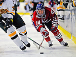 20 February 2009: University of Massachusetts Lowell River Hawks' forward Nick Monroe, a Senior from Groton, MA, in action against the University of Vermont Catamounts at Gutterson Fieldhouse in Burlington, Vermont. The teams battled to a 3-3 tie. Mandatory Photo Credit: Ed Wolfstein Photo