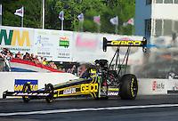 May 4, 2012; Commerce, GA, USA: NHRA top fuel dragster driver Morgan Lucas during qualifying for the Southern Nationals at Atlanta Dragway. Mandatory Credit: Mark J. Rebilas-