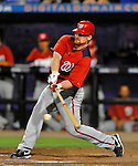 5 March 2012: Washington Nationals infielder Chad Tracy in action during a Spring Training game against the New York Mets at Digital Domain Park in Port St. Lucie, Florida. The Nationals defeated the Mets 3-1 in Grapefruit League play. Mandatory Credit: Ed Wolfstein Photo