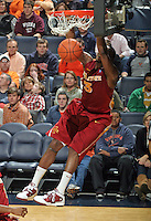 Dec. 30, 2010; Charlottesville, VA, USA; Iowa State Cyclones forward Melvin Ejim (3) dunks the ball during the game against the Virginia Cavaliers at the John Paul Jones Arena. Iowa State Cyclones won 60-47. Mandatory Credit: Andrew Shurtleff