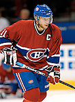 16 January 2007: Montreal Canadiens center and team captain Saku Koivu (11) of Finland warms up prior to facing the Vancouver Canucks at the Bell Centre in Montreal, Canada. The Canucks defeated the Canadiens 4-0.