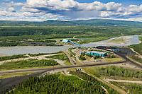 Usibelli coal mining plant along the Nenana river, Healy, interior, Alaska.