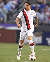 Wayne Bridge #3 of Manchester City during an international friendly match against Inter Milan on July 31 2010 at M&T Bank Stadium in Baltimore, Maryland. Milan won 3-0.