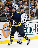 Karl Stollery (Merrimack - 7), Mike Borisenok (UNH - 14) - The Merrimack College Warriors defeated the University of New Hampshire Wildcats 4-1 in their Hockey East Semi-Final on Friday, March 18, 2011, at TD Garden in Boston, Massachusetts.