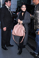 NEW YORK, NY - MAY 8: Vanessa Hudgens seen with a Givenchy purse, greets fans while on her way to NBC's Today Show in New York City on May 8, 2017. Credit: RW/MediaPunch