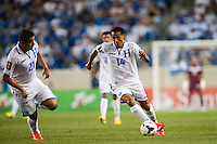 Honduras midfielder Andy Najar (14) during a CONCACAF Gold Cup group B match at Red Bull Arena in Harrison, NJ, on July 8, 2013.