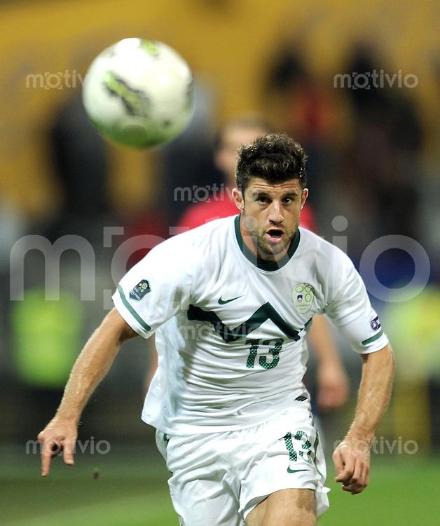 FUSSBALL INTERNATIONAL  Qualifikation Euro 2012  11.10.2011 Slowenien - Serbien Bojan JOKIC (Slowenien)