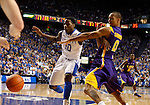 UK guard Archie Goodwin and LSU guard Charles Carmouche scramble for the ball during the second half of the men's basketball game vs. LSU at Rupp Arena, in Lexington, Ky., on Saturday, January 26, 2013. Photo by Genevieve Adams  | Staff.