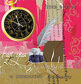 Isabella, MODERN, paintings,+clock, feather, ink++++,ITKE043144,#n#
