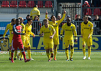 31 March 2011: The Columbus Crew celebrate a goal by Columbus Crew midfielder Bernardo Anor #7 during a game between the Columbus Crew and the Toronto FC at BMO Field in Toronto, Ontario Canada..The Columbus Crew won 1-0.