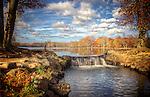 Belmont Lake State Park - Waterfall in November