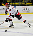 2 January 2009: St. Lawrence Saints' forward Kevin DeVergilio, a Senior from Sterling Heights, MI, in action against the Ferris State Bulldogs in the first game of the 2009 Catamount Cup Ice Hockey Tournament hosted by the University of Vermont at Gutterson Fieldhouse in Burlington, Vermont. The Saints defeated the Bulldogs 5-4 to move onto the championship game against the University of Vermont Catamounts...Mandatory Photo Credit: Ed Wolfstein Photo
