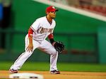 27 September 2010: Washington Nationals infielder Alberto Gonzalez in action against the Philadelphia Phillies at Nationals Park in Washington, DC. Mandatory Credit: Ed Wolfstein Photo