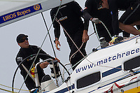 Torvar Mirsky in action on day 2 of Match Race Germany. World Match Racing Tour. Langenargen, Germany. 21 May 2010.