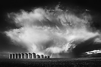 First supercell of the 2012 storm season in Alberta. Supercell that produced lots of mammatus just before it died with a nice little rainbow on the bottom