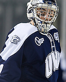 Tyler Scott (UNH - 1) - The University of Maine Black Bears defeated the University of New Hampshire Wildcats 5-4 in overtime on Saturday, January 7, 2012, at Fenway Park in Boston, Massachusetts.