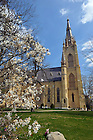 Basilica in Spring, 2009..Photo by Matt Cashore/University of Notre Dame
