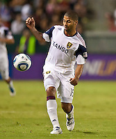 CARSON, CA – August 27, 2011: Real Salt Lake forward Alvaro Saborio (15) during the match between Chivas USA and Real Salt Lake at the Home Depot Center in Carson, California. Final score Chivas USA 0, Real Salt Lake 1.
