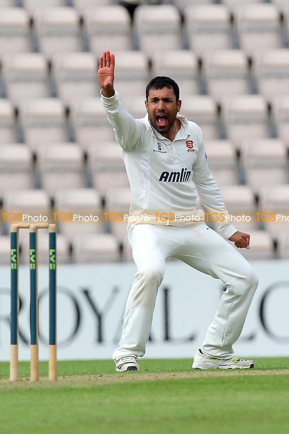 Ravi Bopara of Essex with an appeal for a wicket - Hampshire CCC vs Essex CCC - LV County Championship Division Two Cricket at the Ageas Bowl, West End, Southampton - 15/06/14 - MANDATORY CREDIT: Gavin Ellis/TGSPHOTO - Self billing applies where appropriate - 0845 094 6026 - contact@tgsphoto.co.uk - NO UNPAID USE