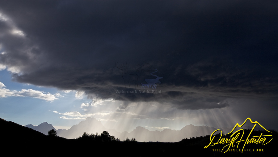 Light Beams, Thunderstorm, Grand Tetons, Grand Teton National Park, Crepuscular Rays