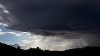 Light Beams, Thunderstorm, Grand Tetons, Grand Teton National Park, Crepuscular Rays