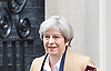 Theresa May, Prime Minister departs No. 10 following the Cabinet Meeting <br /> Downing Street London, Great Britain <br /> 29th March 2017 <br /> <br /> Theresa May, Prime Minister departs No. 10  following the final cabinet meeting before Article 50 is triggered in Parliament today.<br /> <br /> <br /> <br /> <br /> Photograph by Elliott Franks <br /> Image licensed to Elliott Franks Photography Services