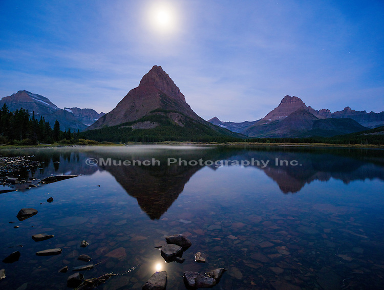 Mount Grinnell over Swiftcurrent Lake, Glacier National Park, Montana