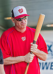 10 March 2015: Washington Nationals Manager Matt Williams holds a bat in the dugout prior to a Spring Training game against the Miami Marlins at Roger Dean Stadium in Jupiter, Florida. The Marlins edged out the Nationals 2-1 on a walk-off solo home run in the 9th inning of Grapefruit League play. Mandatory Credit: Ed Wolfstein Photo *** RAW (NEF) Image File Available ***
