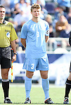 13 November 2011: North Carolina's Kirk Urso. The University of North Carolina Tar Heels defeated the Boston College Eagles 3-1 at WakeMed Stadium in Cary, North Carolina in the Atlantic Coast Conference Men's Soccer Tournament championship game.